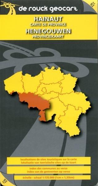 Henegouwen 1:135.000 9789052080598  De Rouck - Geocart Provinciekaarten België  Landkaarten en wegenkaarten Wallonië (Ardennen)