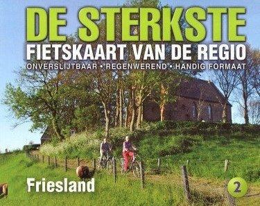 DSF-02 De sterkste fietskaart van Friesland 1:50.000 9789058817105  Buijten & Schipperheijn DSF  Fietskaarten Friesland