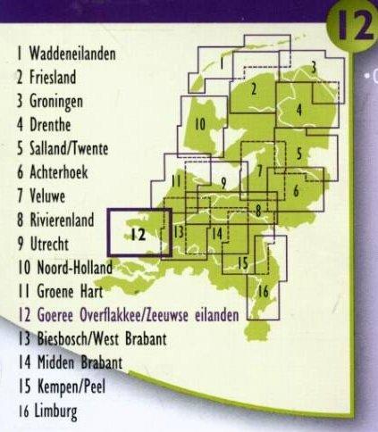 DSF-12 De sterkste fietskaart Zeeuwse Eilanden 1:50.000 9789058817150  Buijten & Schipperheijn DSF  Fietskaarten Zeeland