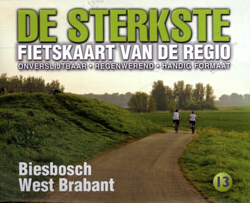 DSF-13  De sterkste fietskaart van Biesbosch en West Brabant 9789058817167  Buijten & Schipperheijn DSF  Fietskaarten Noord-Brabant