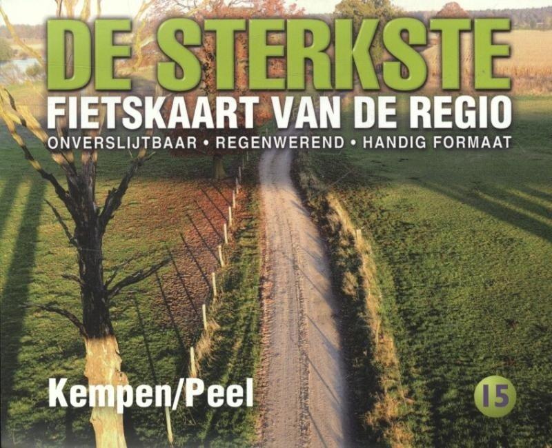 DSF-15 De sterkste fietskaart van Kempen en Peel 1:50.000 9789058817181  Buijten & Schipperheijn DSF  Fietskaarten Noord-Brabant