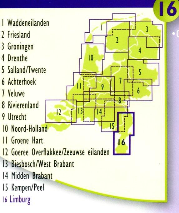 DSF-16 De sterkste fietskaart van Limburg 1:50.000 9789058817198  Buijten & Schipperheijn DSF  Fietskaarten Maastricht en Zuid-Limburg, Noord- en Midden-Limburg