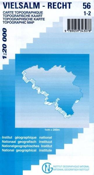 NGI-56/1-2  Vielsalm-Recht | topografische wandelkaart 1:20.000 9789059343078  NGI Belgie 1:20.000/25.000  Wandelkaarten Wallonië (Ardennen)