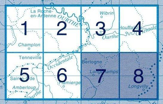 NGI-60/7-8  Bertogne/Longvilly | topografische wandelkaart 1:20.000 9789059344068  NGI Belgie 1:20.000/25.000  Wandelkaarten Wallonië (Ardennen)