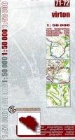 NGI-71-72 Virton-Houwald (topografische kaart 1:50.000) 9789059344785  NGI Belgie 1:50.000  Wandelkaarten Wallonië (Ardennen)