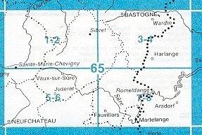 NGI-65/7-8  Fauvillers-Romeldange   topografische wandelkaart 1:20.000 9789059345553  NGI Belgie 1:20.000/25.000  Wandelkaarten Wallonië (Ardennen)