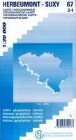NGI-67/3-4  Herbeumont-Suxy   topografische wandelkaart 1:20.000 9789059345577  NGI Belgie 1:20.000/25.000  Wandelkaarten Wallonië (Ardennen)
