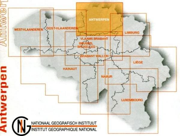 Antwerpen provinciekaart 9789059345928  NGIB Provinciekaarten (B) 1:100d.  Landkaarten en wegenkaarten Vlaanderen & Brussel