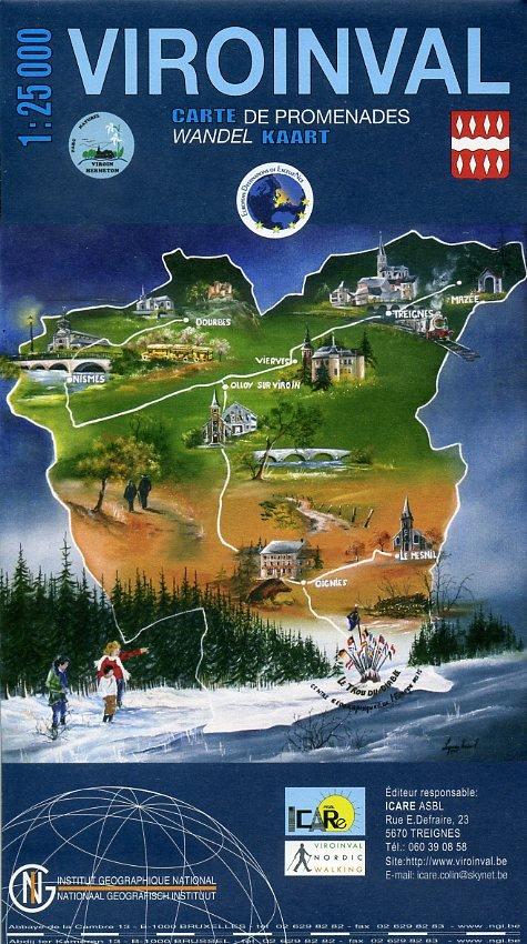 Viroinval 1:25.000 9789059349483  NGI NGI/VVV-kaarten 25d  Wandelkaarten Wallonië (Ardennen)