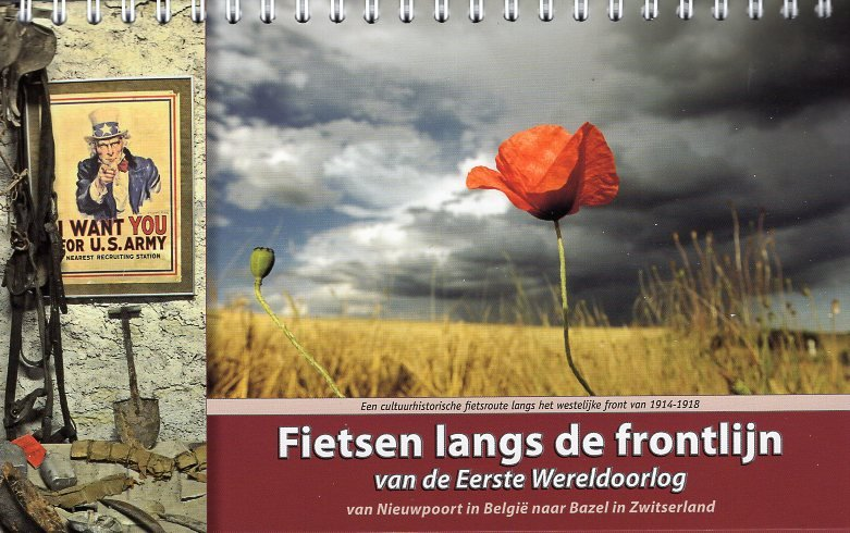 Fietsen langs de frontlijn 9789077056363  ReCreatief Fietsen   Fietsgidsen, Historische reisgidsen Europa