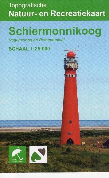 Schiermonnikoog 1:25.000 9789077350980  K&A   Wandelkaarten Waddeneilanden en Waddenzee