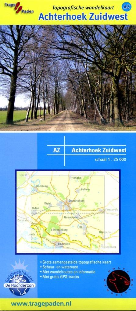 AZ  Achterhoek Zuidwest | wandelkaart 1:25.000 9789081396158 WolfsWandelplan De Noorderzon Trage Paden  Wandelkaarten Gelderse IJssel en Achterhoek