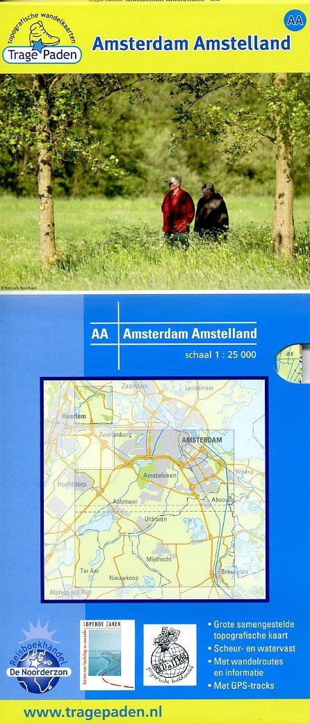 AA  Amsterdam Amstelland | wandelkaart 1:25.000 9789081396189 red.: De Noorderzon, Lopende Zaken, Pied à Terre De Noorderzon Trage Paden  Wandelkaarten Amsterdam, Noord-Holland