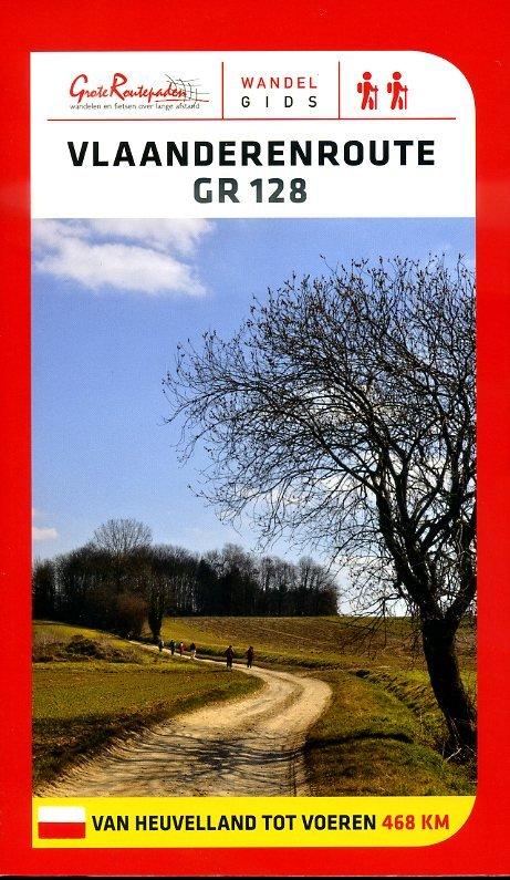 GR-128  Vlaanderenroute (GR128)   wandelgids 9789081396479  Grote Routepaden Topogidsen  Wandelgidsen, Meerdaagse wandelroutes Vlaanderen & Brussel