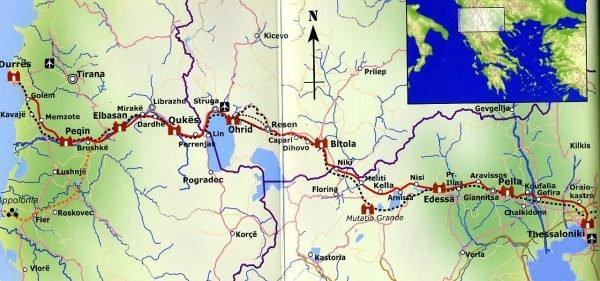 The Via Egnatia Hiking Trail 9789082197303 Marietta van Attekum, Holger de Bruin Via Egnatia Foundation   Wandelgidsen Balkan