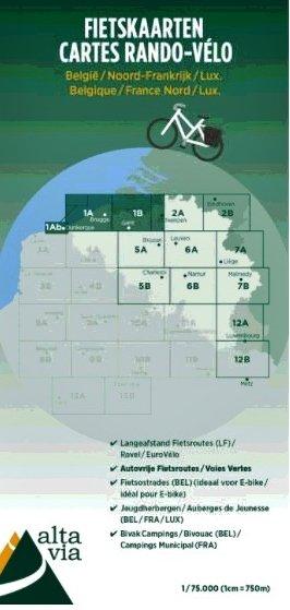 ALV-01  Provincies Oost & West Vlaanderen 1:75.000 9789082714401  Alta Via   Fietskaarten Vlaanderen & Brussel