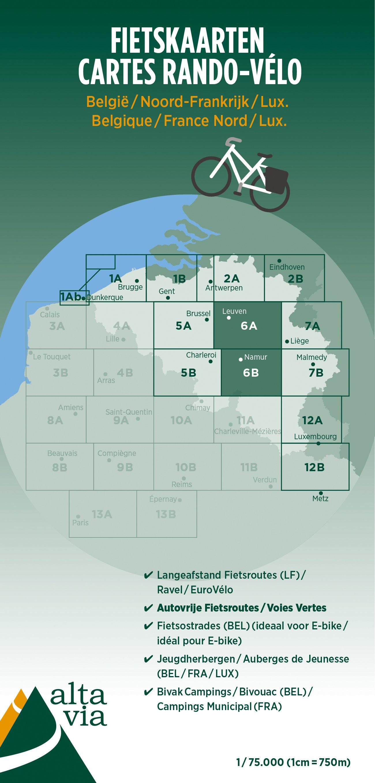 ALV-06  Provincie Brabant & Namen 1:75.000 9789082714432  Alta Via   Fietskaarten Vlaanderen & Brussel, Wallonië (Ardennen)