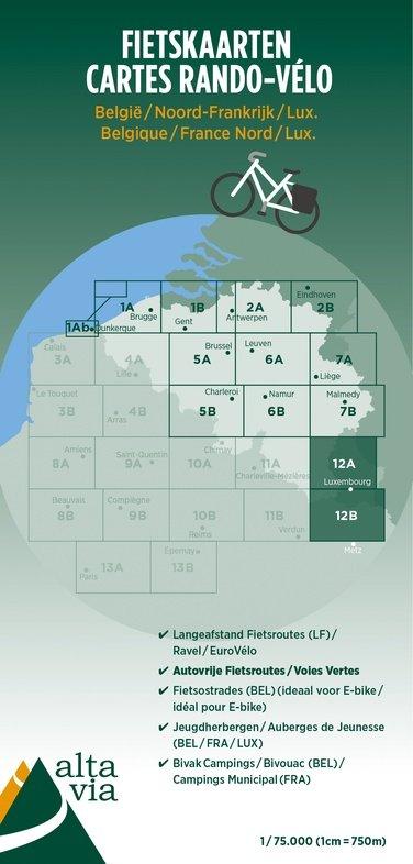 ALV-12  Luxemburg, Moselle 1:75.000 9789082714456  Alta Via   Fietskaarten Luxemburg