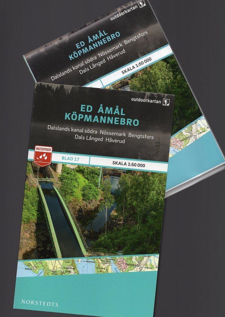 OK-17 Ed Åmål Köpmannebro 1:50.000 9789113068381  Norstedts Outdoorkartan (Fjällkartan)  Wandelkaarten Zuid-Zweden