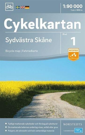 NC-01 Sydvästra Skane (Zuidwest Skane) 1:90.000 9789113083858  Norstedts Cykelkartan Fietskaarten Zweden  Fietskaarten Zuid-Zweden