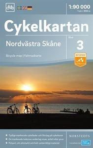 NC-03 Nordvästra Skane 1:90.000 9789113083872  Norstedts Cykelkartan Fietskaarten Zweden  Fietskaarten Zuid-Zweden