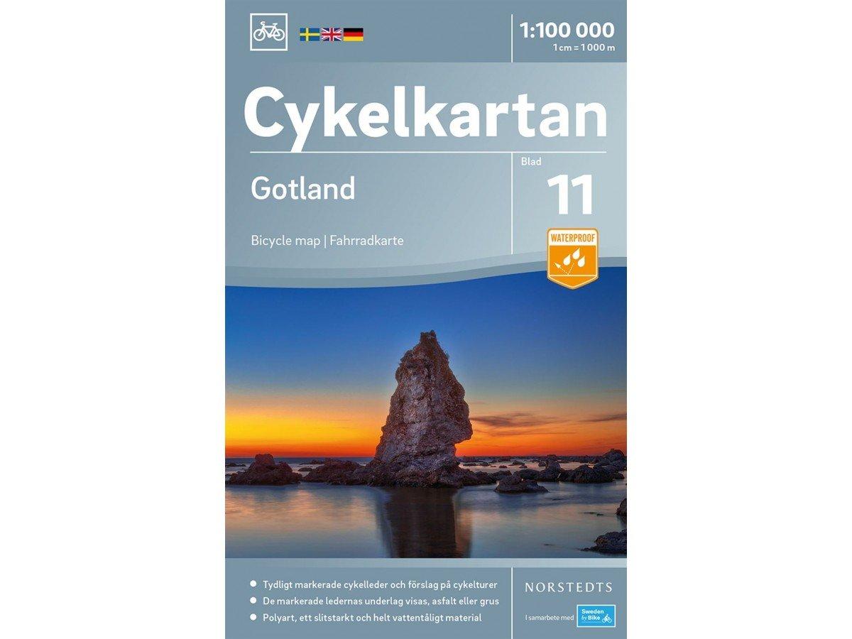 NC-11 Gotland 1:100.000 9789113083957  Norstedts Cykelkartan Fietskaarten Zweden  Fietskaarten Zuid-Zweden