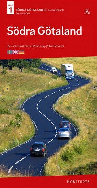 SE-1  Södra Götaland 1:250.000 9789113084152  Kartförlaget - Lantmäteriet Bil- och Turistkarta  Landkaarten en wegenkaarten Zuid-Zweden
