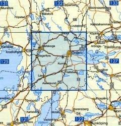VK-126 Örebro 1:100.000 9789158801264  Kartförlaget - Lantmäteriet Vägkartan  Landkaarten en wegenkaarten Zuid-Zweden