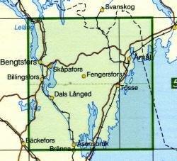 TKS-586  Åmål (Amal)  1:50.000 9789158805866  Kartförlaget - Lantmäteriet Terrängkartan  Wandelkaarten Zuid-Zweden