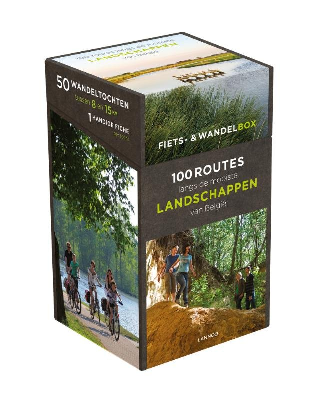 Fiets- en wandelbox 9789401424844  Lannoo   Fietsgidsen, Wandelgidsen België & Luxemburg