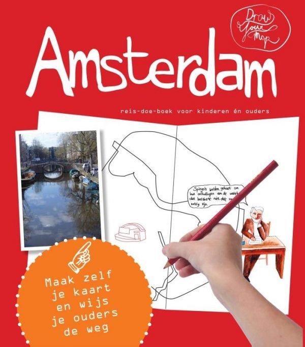 Draw Your Map: Amsterdam 9789462321601 Lisa van Gaalen, Robin Bertus Link Draw Your Map  Kinderboeken, Reisgidsen Amsterdam