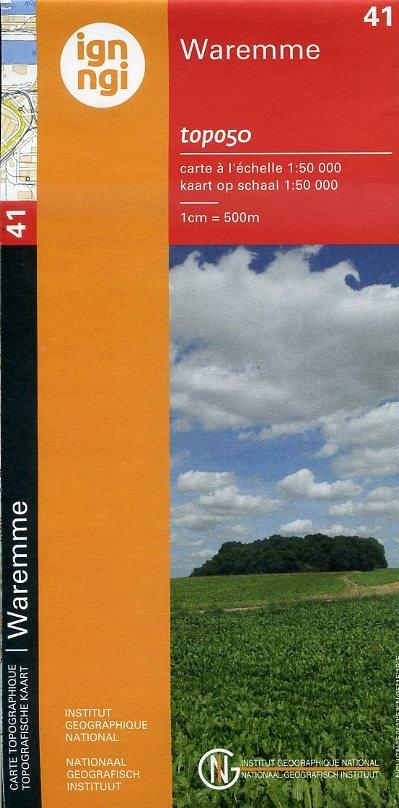 NGI-41 Waremme (topografische kaart 1:50.000) 9789462350083  NGI Belgie 1:50.000  Wandelkaarten Wallonië (Ardennen)