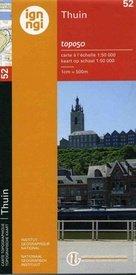 NGI-52  Thuin (topografische kaart 1:50.000) 9789462350090  NGI Belgie 1:50.000  Wandelkaarten Wallonië (Ardennen)