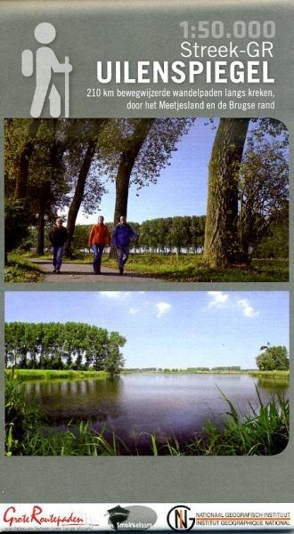 Toeristische kaart Streek-GR Uilenspiegel 1:50.000 9789462350533  Grote Routepaden   Wandelkaarten Vlaanderen & Brussel