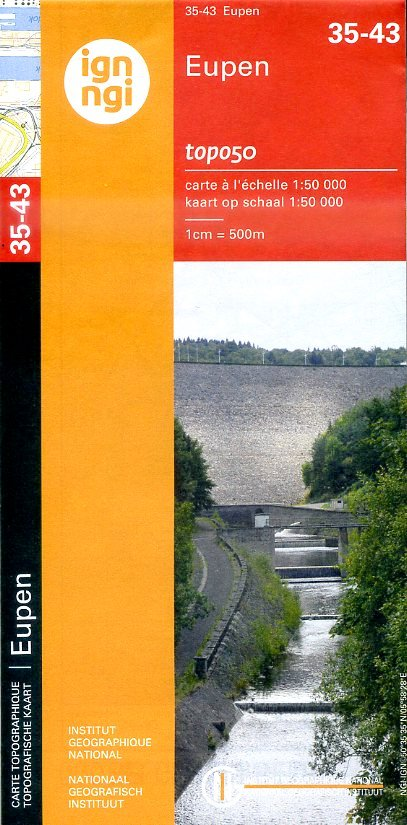 NGI-35-43 Eupen (topografische kaart 1:50.000) 9789462350694  NGI Belgie 1:50.000  Wandelkaarten Wallonië (Ardennen)