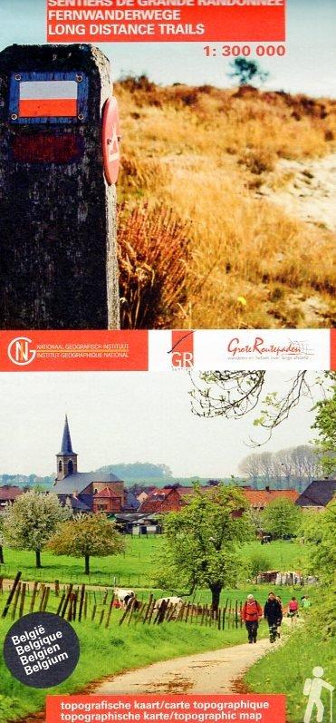 GR Paden Belgie 1:300.000 9789462352025  NGI   Wandelkaarten België & Luxemburg
