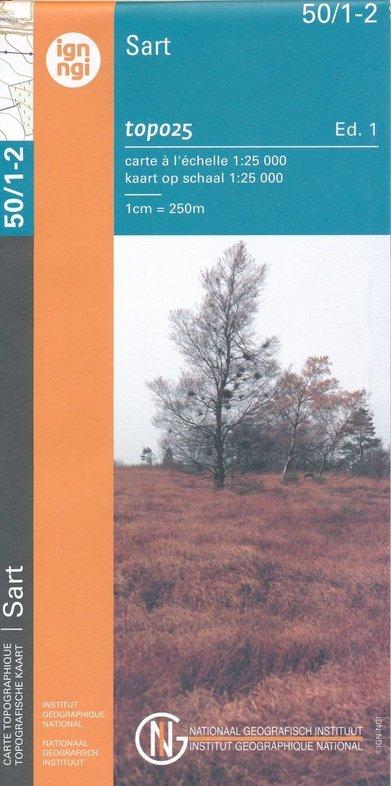 NGI-50/1-2  Sart-Xhoffraix | topografische wandelkaart 1:25.000 9789462352308  NGI Belgie 1:20.000/25.000  Wandelkaarten Wallonië (Ardennen)