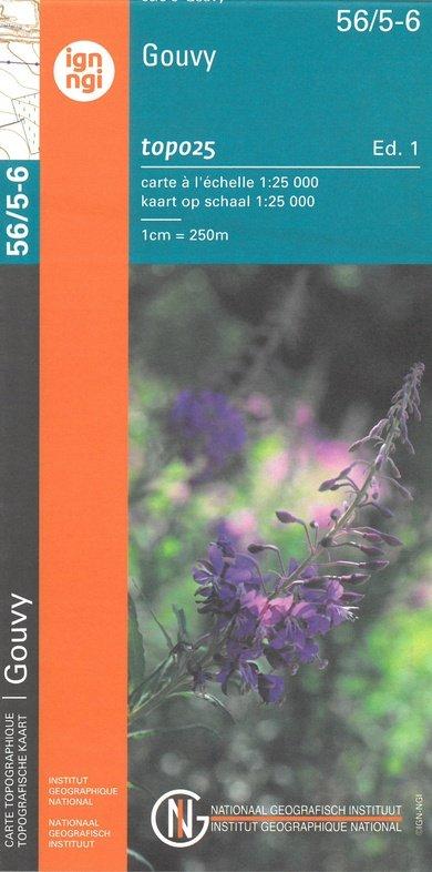 NGI-56/5-6  Bovigny-Thommen | topografische wandelkaart 1:25.000 9789462352414  NGI Belgie 1:20.000/25.000  Wandelkaarten Wallonië (Ardennen)