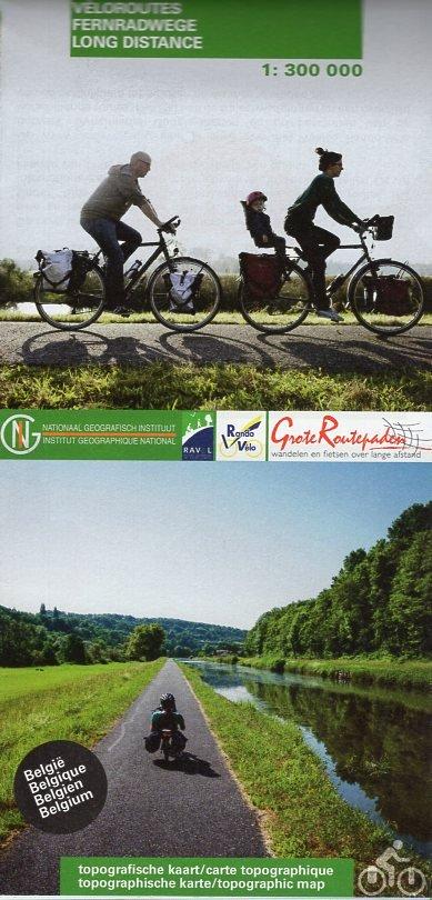 Fietsroutes in Belgie 1:300.000 (LF-overzichtsaart) 9789462352698  NGI   Fietskaarten België & Luxemburg