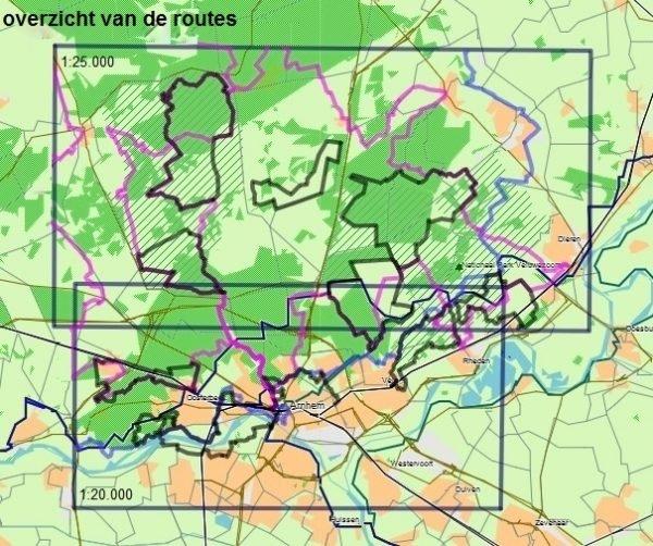 ZV  Zuid-Veluwe  | wandelkaart 1:20.000 / 25.000 9789491767012 Samenstelling en routes: Leon Receveur De Noorderzon Trage Paden  Cadeau-artikelen, Wandelkaarten Arnhem en de Veluwe