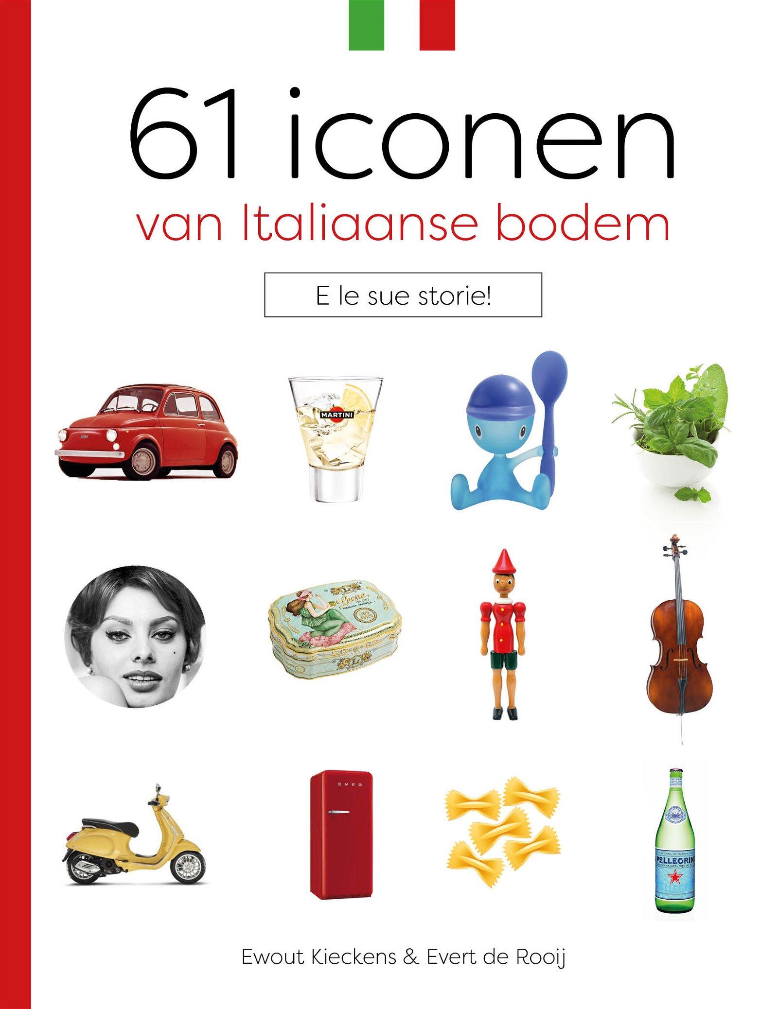61 Iconen van Italiaanse bodem | Ewout Kiekens 9789492500311  Edicola   Landeninformatie Italië