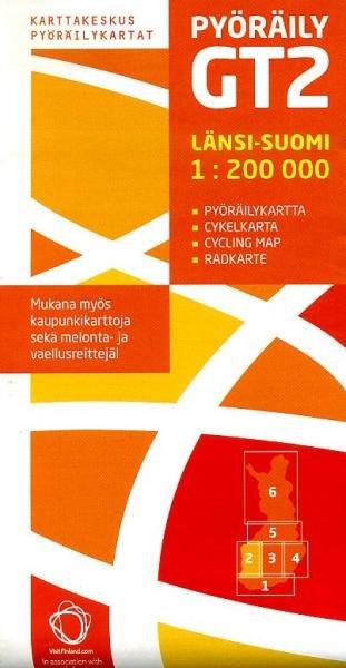 GT2 Länsi-Suomi 1:200.000 9789515932204  Genimap Oy Finland Cycling Maps  Fietskaarten Finland