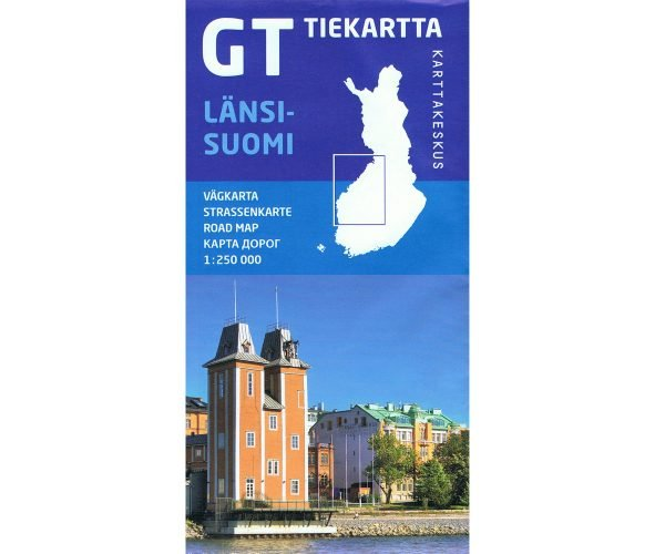 GT Tiekartta Länsi-Suomi  | West-Finland 1:250.000 9789522660978  Genimap Oy   Landkaarten en wegenkaarten Finland