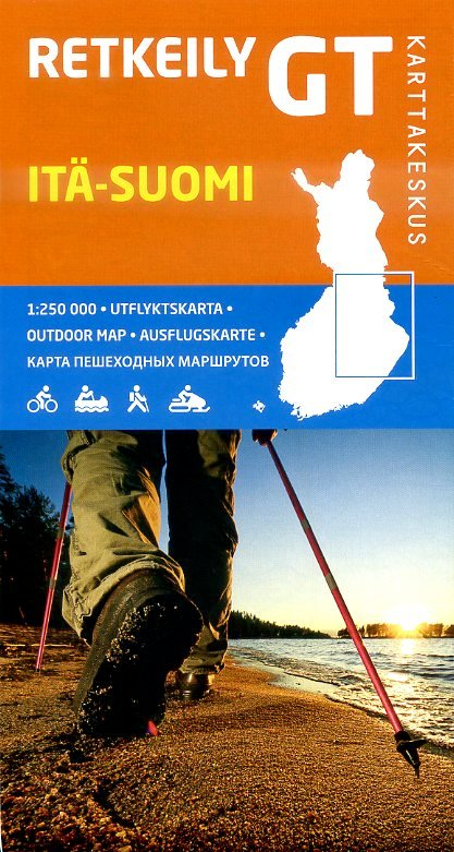 GT-Outdoor Map Itä-Suomi (Oost-Finland) 1:250.000 9789522662064  Genimap Oy   Landkaarten en wegenkaarten Finland