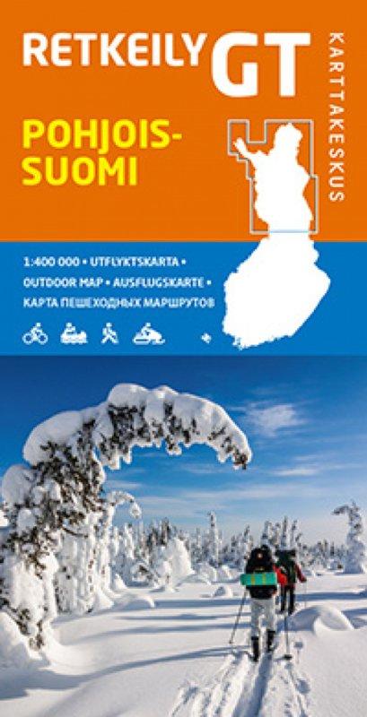 GT-Outdoor Map Pohjois-Suomi (Noord Finland) 1:400.000 9789522664594  Genimap Oy   Landkaarten en wegenkaarten Finland