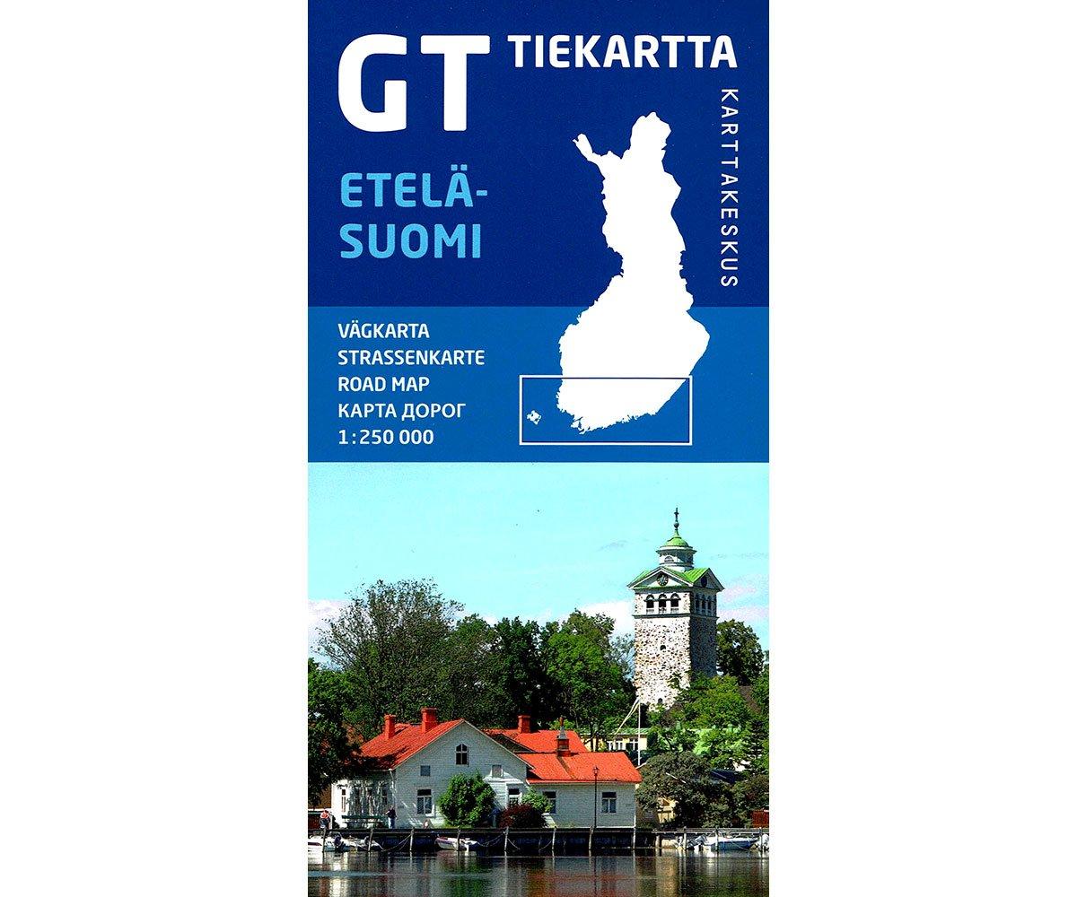 GT Tiekartta Etelä-Suomi | Zuid-Finland 1:250.000 9789522665454  Genimap Oy   Landkaarten en wegenkaarten Finland