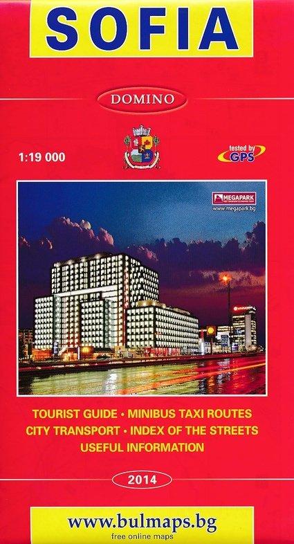 Sofia 1:19.000 (stadsplattegrond) 9789546510648  Domino   Stadsplattegronden Bulgarije