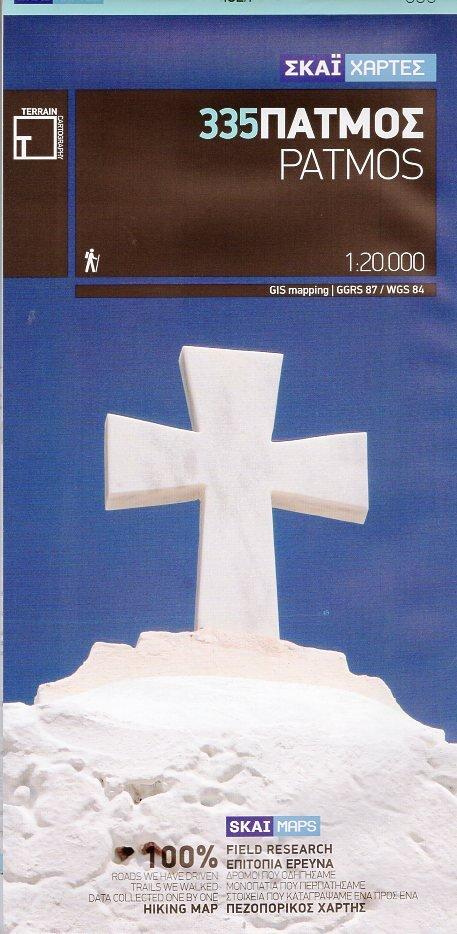 TM-335 Patmos 1:20.000 9789606845796  Terrain Maps Greek Islands  Landkaarten en wegenkaarten Egeïsche Eilanden
