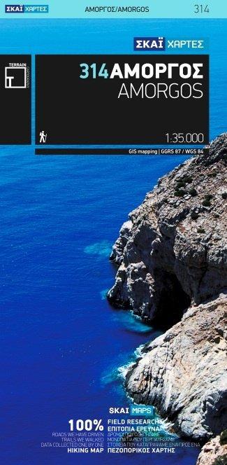 TM-314 Amorgos 1:35.000 9789606845987  Terrain Maps Cyclades  Wandelkaarten Egeïsche Eilanden