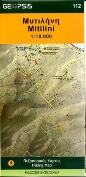 Mitilini 1:18.000 9789607886132  Geopsis   Wandelkaarten Egeïsche Eilanden